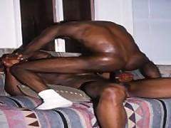 Horny Black Dude Hardcore Anal Hole Fucking