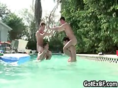 Homosexual Threesome By The Swimmingpool 5 By GotExBF