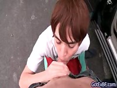 Red Haired Sucking Off Some Erection On Parking 1 By Gotexbf