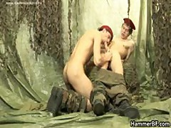 Bear Soldier Pulling His Hard Erection Three By HammerBF