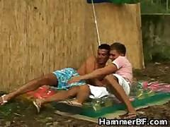 Hardcore Outdoor Gay Bareback Fucking Porn Video 1 By HammerBF