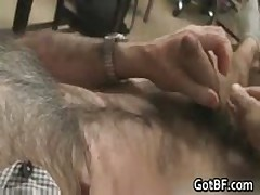 Very Hairy Guy Jerking Off 2 By GotBF