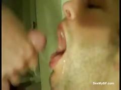 Amateur Boyfriend Gets Facial