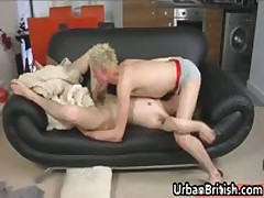 Amazing Teenagers Josh McKenzie And Ariel Cain Pulling Jizzster On Lounge 2 By UrbanBritish