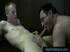 Blonde Pretty Twinky Blows Bear Hardon Four By GayPrideVault