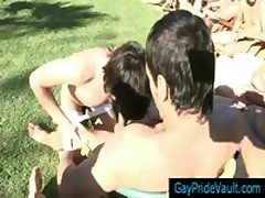 Guy Sucking Off Large Group Of Boys Public 2 By GayPrideVault