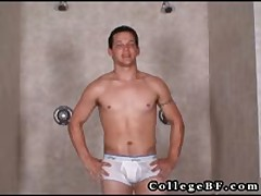 Lee Stephens Masturbating Under Shower 1 By Collegebf