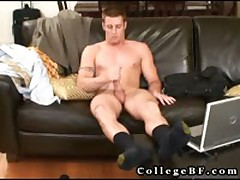 Muscled Rc Wanking His Firm Cock 6 By CollegeBF