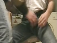 Jeans Package Caress Sperm