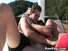 Wild Latin Gays Barebacking On A Boat