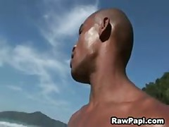 Gay Papi Outdoor Anal Fuck