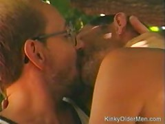 Mature Co-Workers Suck Each Other Off Outside