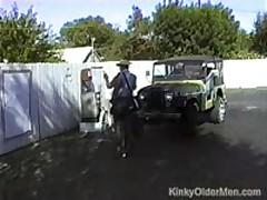 Mature Men Enjoy Group Fuck Outdoors