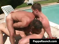 Extreme Homosexual Hard Core Arse Making Out Three-Way Homosexual Video 1 By PappaRaunch