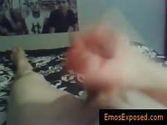 Homo Punk Twinkie Jerking His Jizzster With Fleshlight By Emosexposed