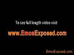 Homosexual Punk Masturbating His Schlong In A Mirrow By Emosexposed