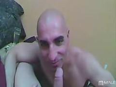 Facefucking His Bald Head