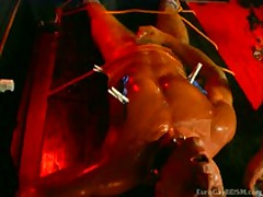 Slave'S Cock Gets Covered In Hot Candle Wax