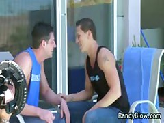 Homo Scenes Of Andrew And Roman Screw And Blow Job By The Pool Four By RandyBlow