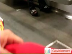 Guy Getting Boned In Metro By Gayviolator
