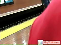 Guy Getting Slammed In Metro By Gayviolator