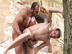 Hairy Muscle Guy Sucking And Fucking Twink