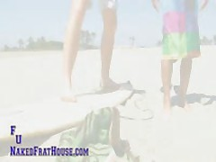 Tall Hot Ginger Gets A Surf Lesson