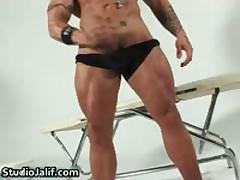 Muscled Gay Hunk Rob Diesel Jerking His Big Cock Gay Porn 2 By StudioJalif