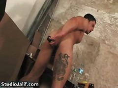 Javier Jimenez Stuffing His Tight Asshole With A Dildo Gay Porno 2 By StudioJalif