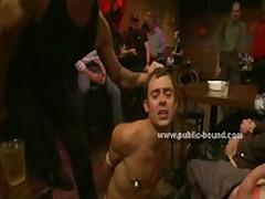 Gay Hunk Throat Fucked Deep In Gangbang