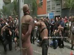 Gay Blonde Hunk Walked Naked In Public