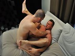 Hairy Muscle Top Fucks Straight Stud