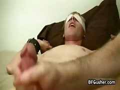 Blindfolded Cory Getting His Boner Wanked 1 By BFgusher