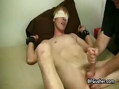 Blindfolded Cory Getting His Boner Wanked 1 By BFgusher