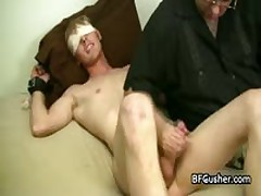 Blindfolded Cory Getting His Sausage Wanked 2 By BFgusher