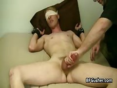 Blindfolded Cory Gets His Erection Wanked 3 By BFgusher