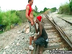White Trash Gets Sucked By Black Thug 14 By FuckThug
