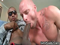 Pierced Sack Gets Hard Black Anal Ramming 2 By GetsPainful