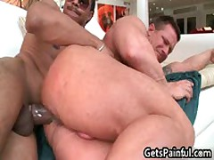 Tattooed Hunk Gets His Tiny Ass Fucked By Black Jizzster 5 By GetsPainful