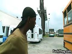 Black Thug Fucks White Anus Outdoor 6 By FuckThug