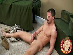 Marine Jacks Off His Hot Steamy Cock