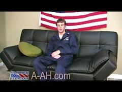 Sailor Jerks His Huge Cock