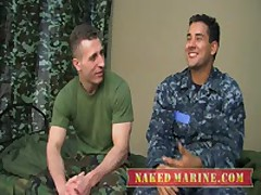Sailor Fucks Army Muscle Dude