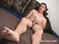 Str8 Boy Playing With Dildo