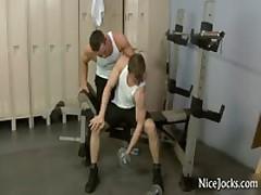 Two Amazing Jocks Fucks And Sucks In Gym 1 By NiceJocks