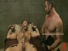 Pervert Gay Hunk Dressed In Leather Bdsm