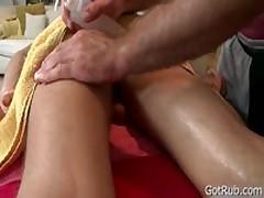 Lucky Dude Getting Great Rubbing Three By GotRub