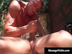 Hot Buffed Dude Gets Oiled Up For Gay Massage 5 By MassageVictim