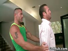 Beefy Hot Man With Tattoos Making Out His Rubbing Expert 1 By GotRub