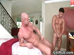 Beefed Buddy Getting His Fine Tatooed Anus Hammered 5 By GotRub